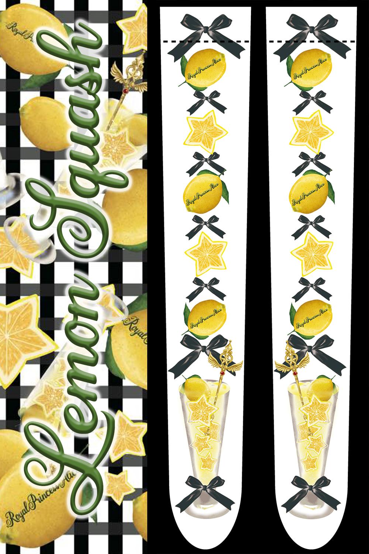 Lemon Squashオーバーニーソックス(黒ギンガム) 【6月中旬より発送予定】