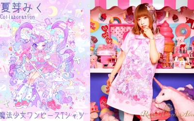 夏芽みくコラボ「魔法少女ワンピースTシャツ(7月22日発売)