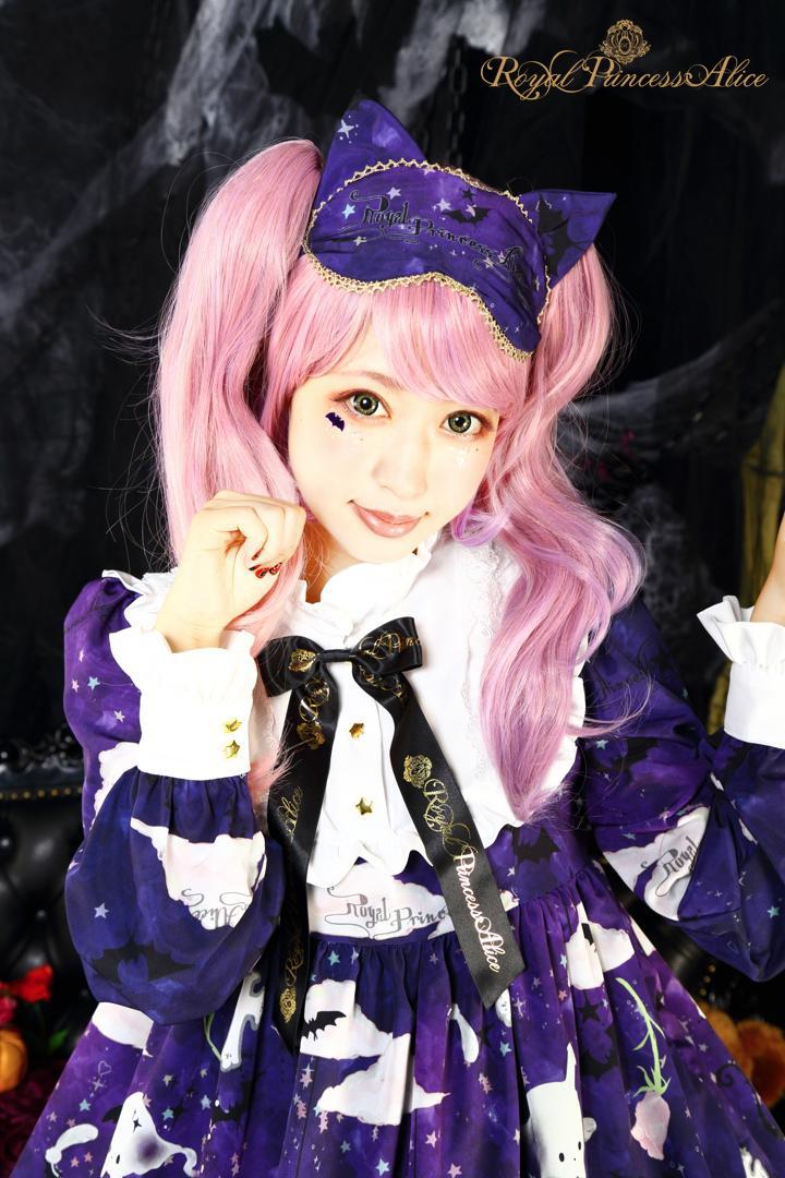 Goth Cat Ghostネコミミアイマスク(夏芽みくコラボレーション)【10月上旬~中旬入荷予定】