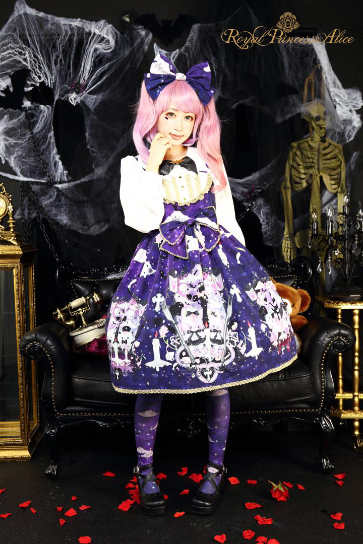 Goth Cat Ghostジャンパースカート(夏芽みくコラボレーション)【10月上旬~中旬入荷予定】