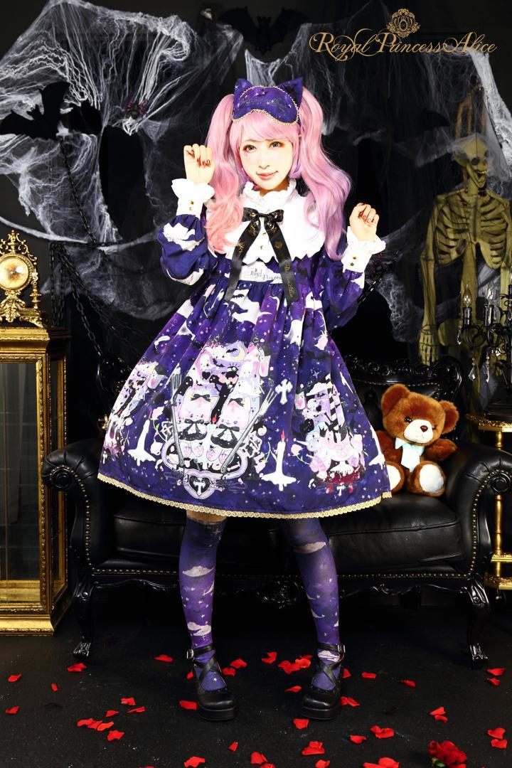 Goth Cat Ghostワンピース(夏芽みくコラボレーション)【10月上旬~中旬入荷予定】