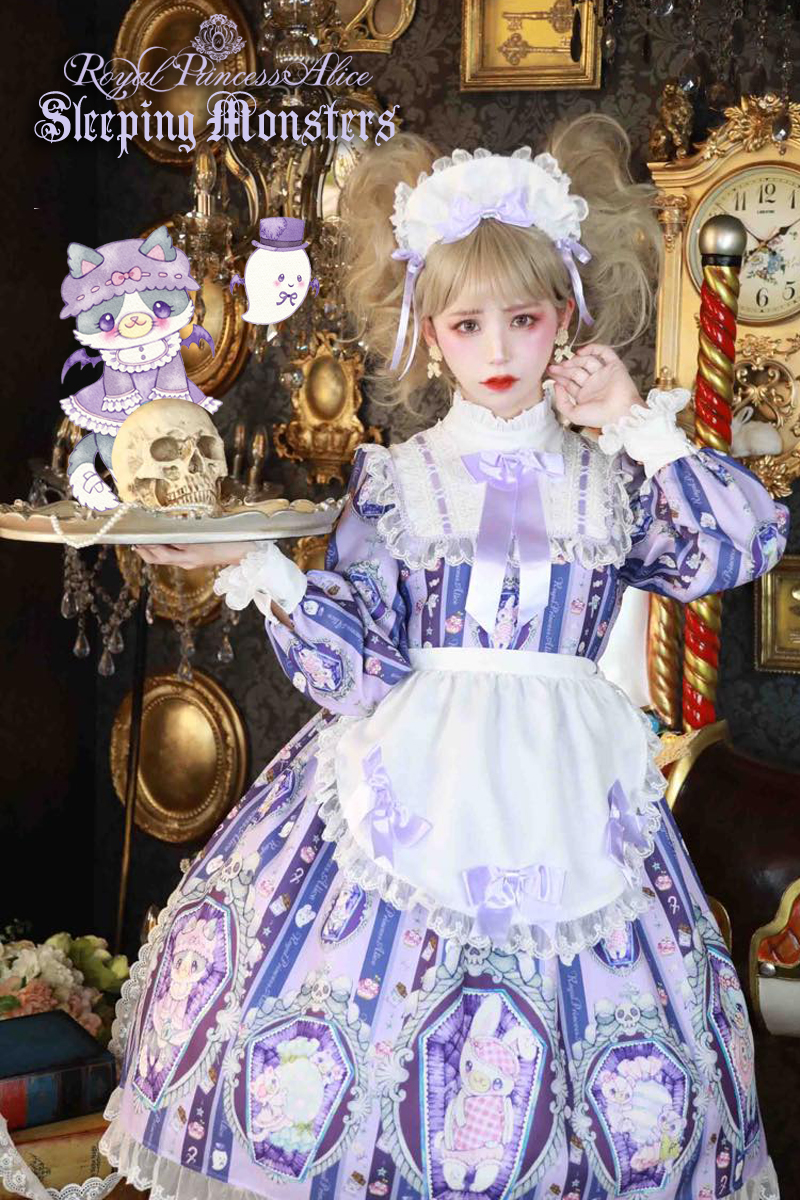 Sleeping Monsters・たまコラボ エプロン付きワンピース【9月末より随時発送】