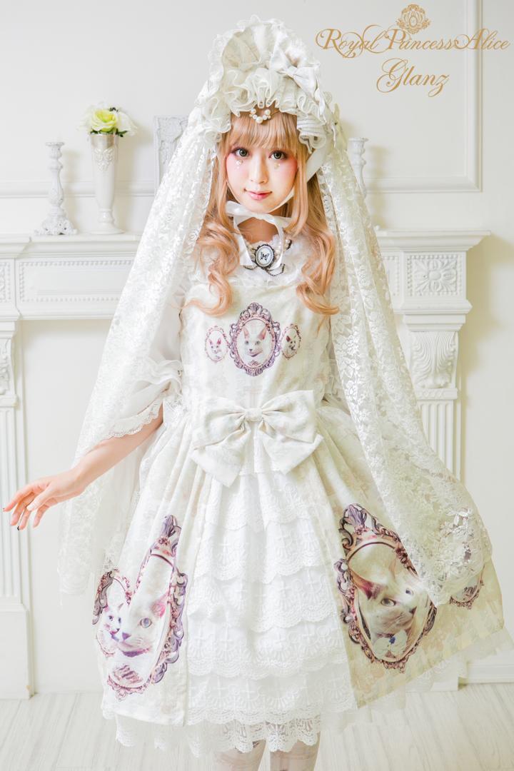 Glanzドレス(ホワイト)【2月末お届け】