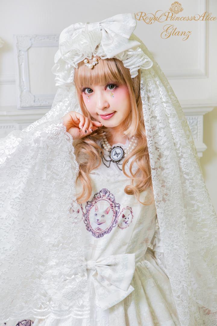 Glanzカチューシャ(ホワイト)【2月末お届け】