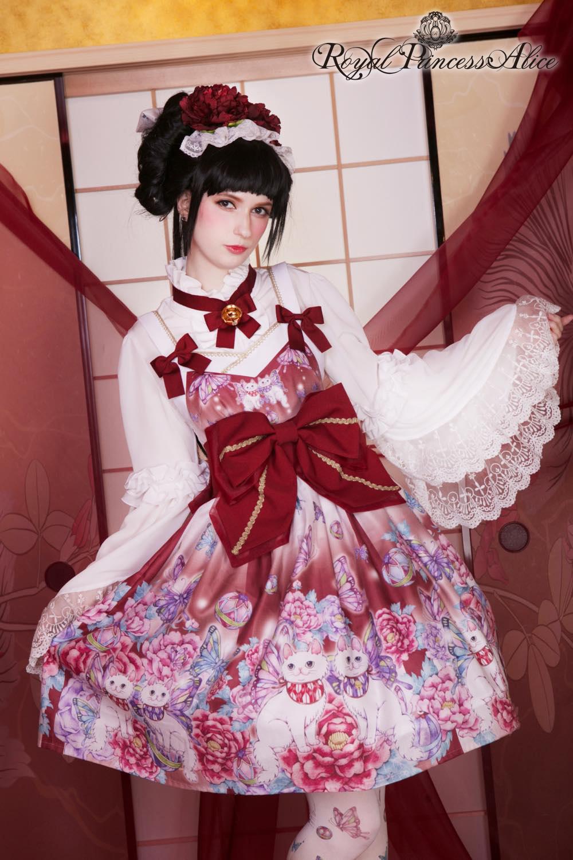 絢爛蝶羽(たまコラボ) 帯付きドレス (白)【2月中旬より随時発送予定】