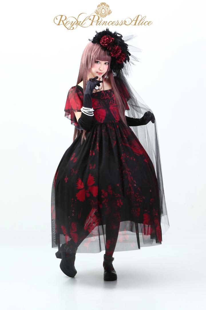 Gothic Butterflyドレス【ローズレッド】(9月下旬~10月上旬お渡し予定)