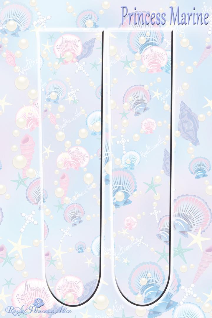 Princess Marineオーバーニー【マーブル】(7月中旬~下旬頃お渡し予定)