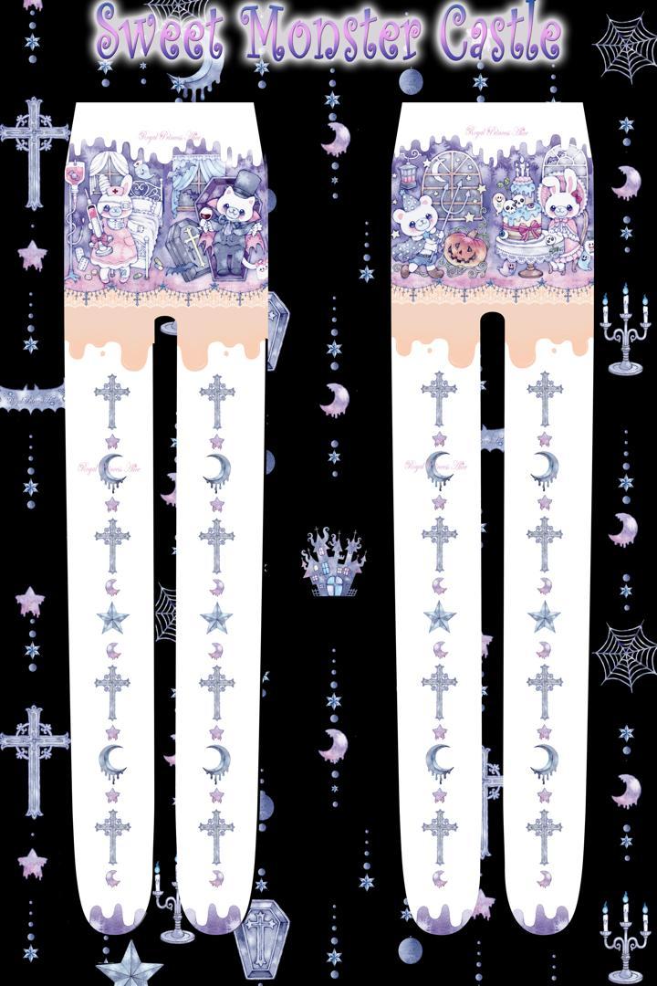 Sweet Monster Castlタイツ(たまコラボ)(ホワイト)