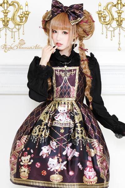 Magical Little Circusジャンパースカート(ボルドー)予約商品(11月20日より発送)