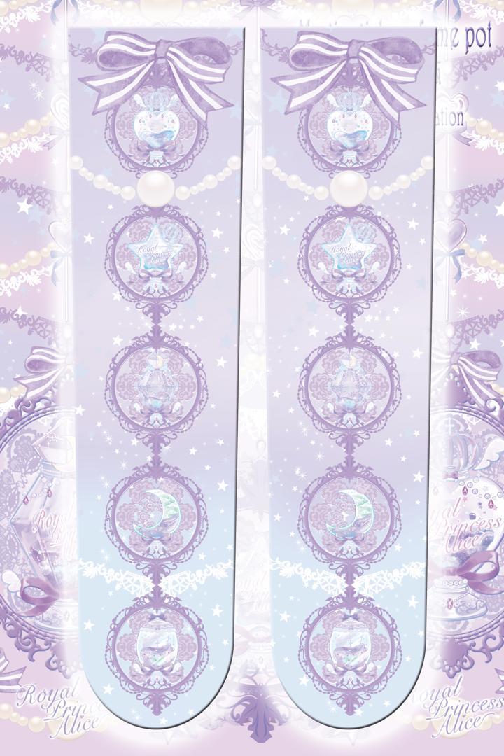 Magic girl perfume pot★魔法少女香水瓶(夏芽みくコラボ)オーバーニー【パープル】(8月下旬お渡し予定)