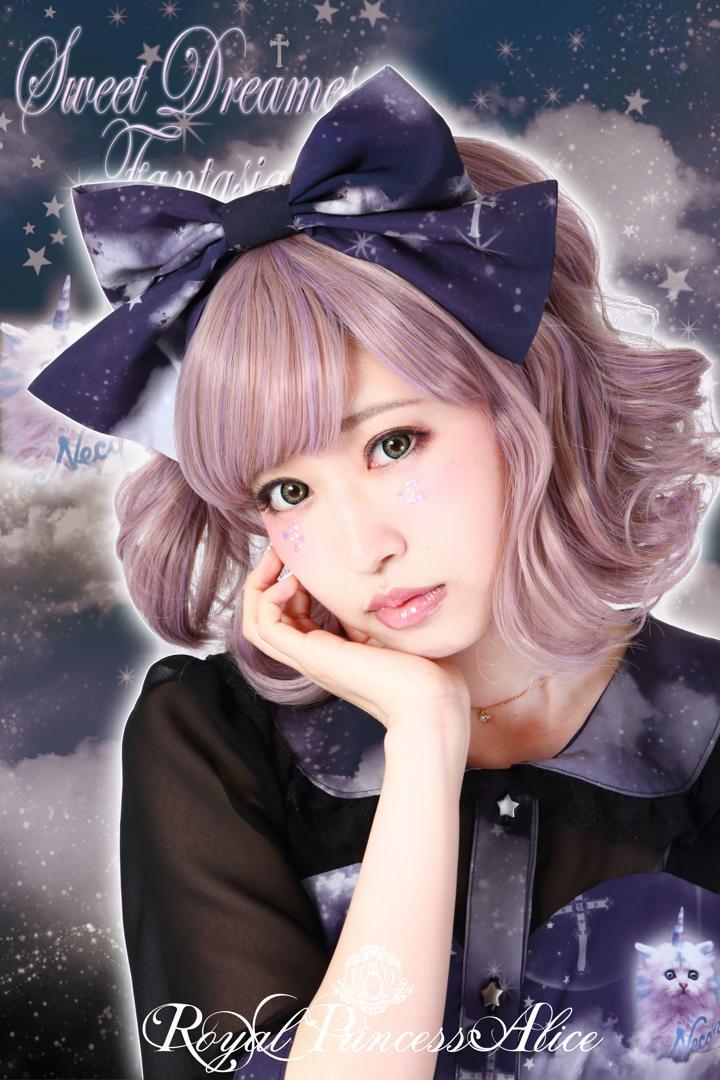 Sweet Dreams Fantasia~甘い夢の幻想曲~カチューシャ(木村優ちゃんコラボ)ブラックネイビー(6月中旬お届け)