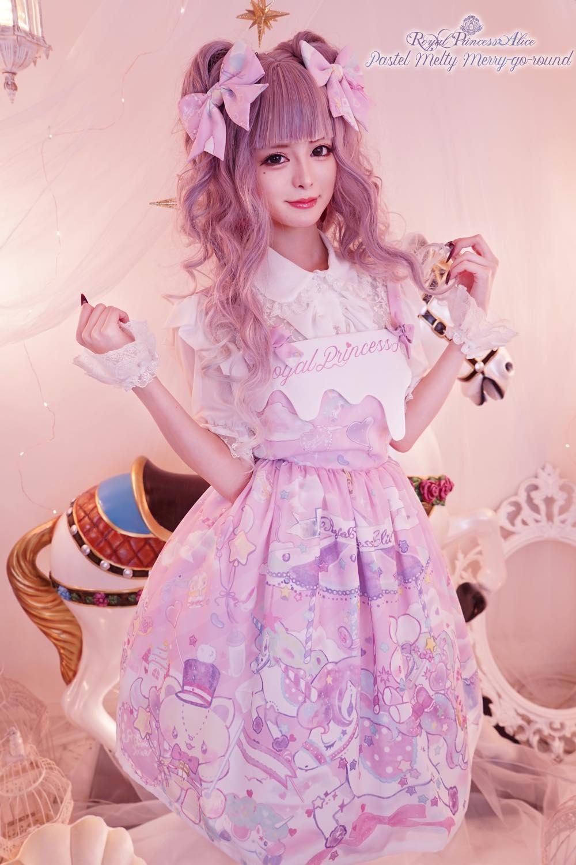 Pastel Melty Merry-go-round ジャンパースカート (夏芽みくコラボレーション)